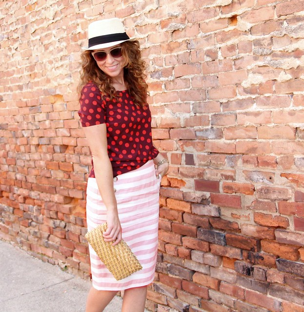 modest midi skirt outfit for summer via kristina j blog