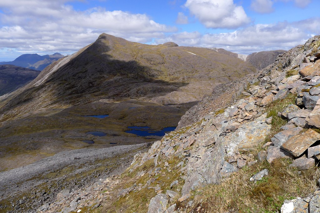 Sgor Ruadh from the ascent of Fuar Tholl