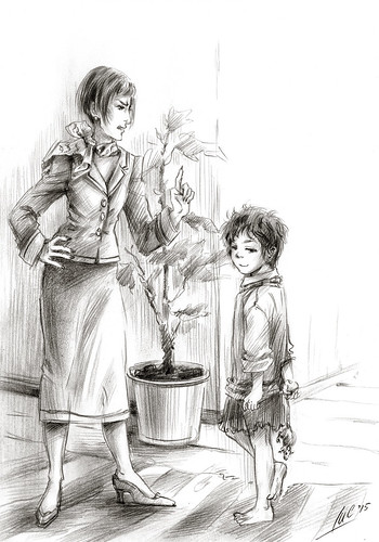 Лиска и воспитательница