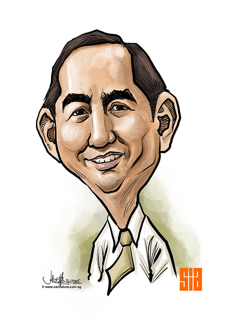 Digital caricature for Singapore Institute of Architects - 6