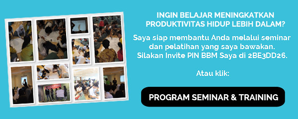 Pelatihan Peningkatan Produktivitas Bersama Arry Rahmawan