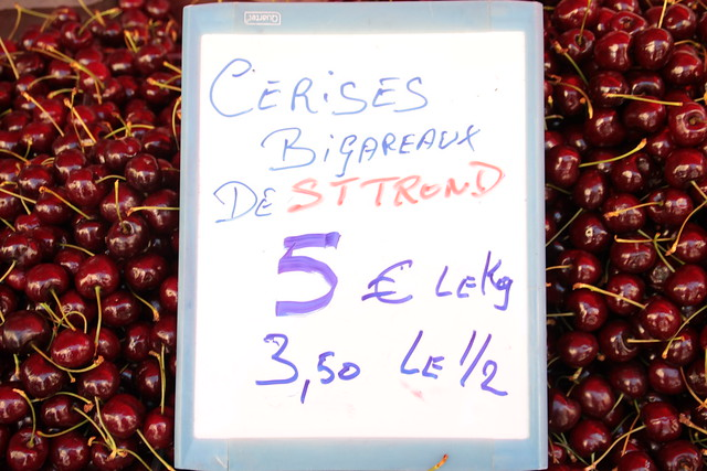 kersen, markt Arlon