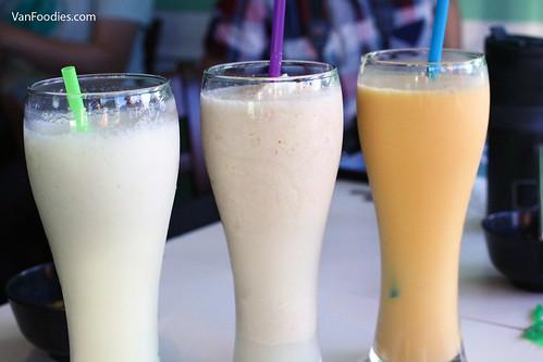 Fresh Cantalope Milkshake, Lychee Slush, Fresh Mango Milkshake