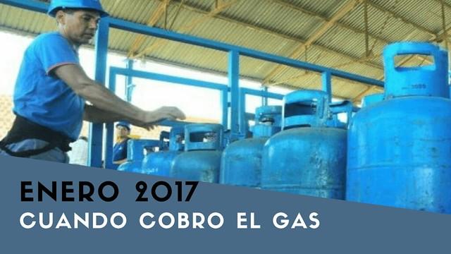 cobro del gas en enero 2017