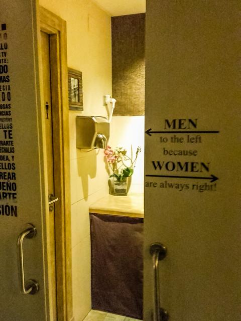Spain - Malaga - Seen in a WC's door