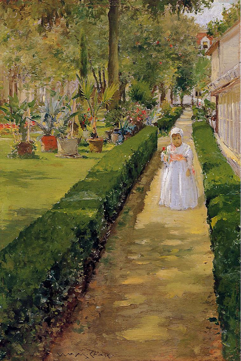 Child on a Garden Walk by William Merritt Chase, 1888