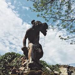 A fallen angel. #latergram #museum #statue #garden #angel #shenandoahvalley #downtown #winchester #va #oldtown