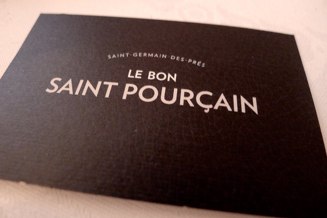 Restaurant Le Bon Saint Pourçain - Paris