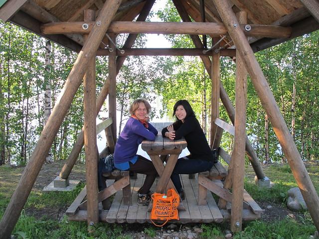 Emma Fält and Arlene Tucker in Uhtoa, Russia