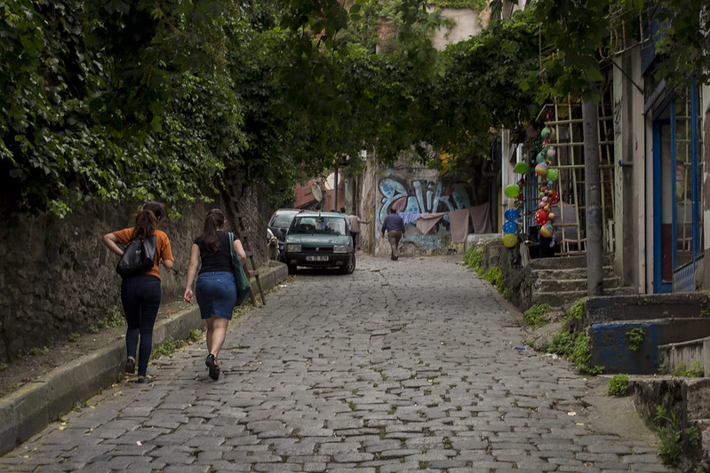 Mysterious street in Beyoglu, Istanbul