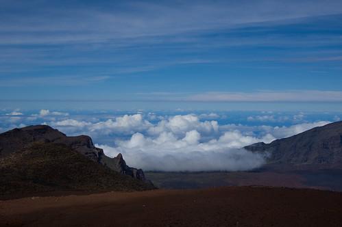 mountain weather clouds landscape hawaii peak maui haleakala crater summit cloudscape mauicollection