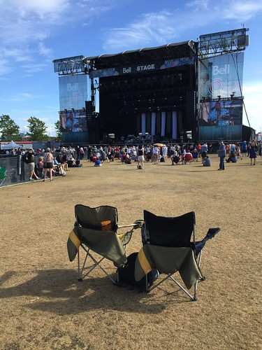 Lonely chairs at Ottawa Bluesfest