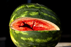 watermelon, macro photography, green, produce, fruit, food, close-up,