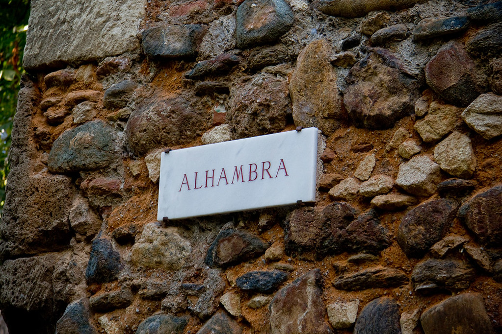 Sign for the Alhambra