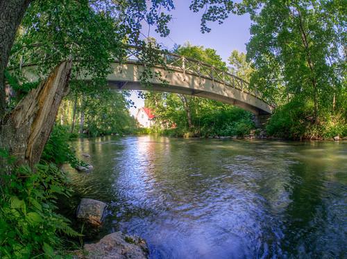 bridge trees tree geotagged wideangle fisheye puu hdr vääksy puita silta ultrawideangle tonemapped tonemap 5exp kalansilmä ultralaajakulma