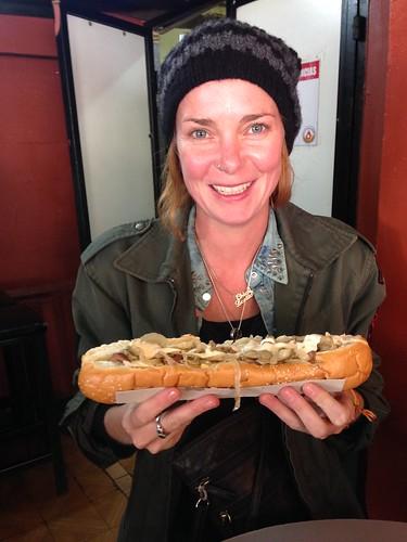 Massive hotdogs.  Imperio.  Salta, Argentina.