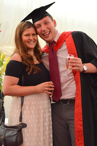 James Riley with his girlfriend, Joana Salkauskaite who graduated in 2014