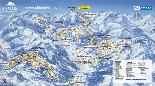 Grossarl Dorfgastein - mapa sjezdovek