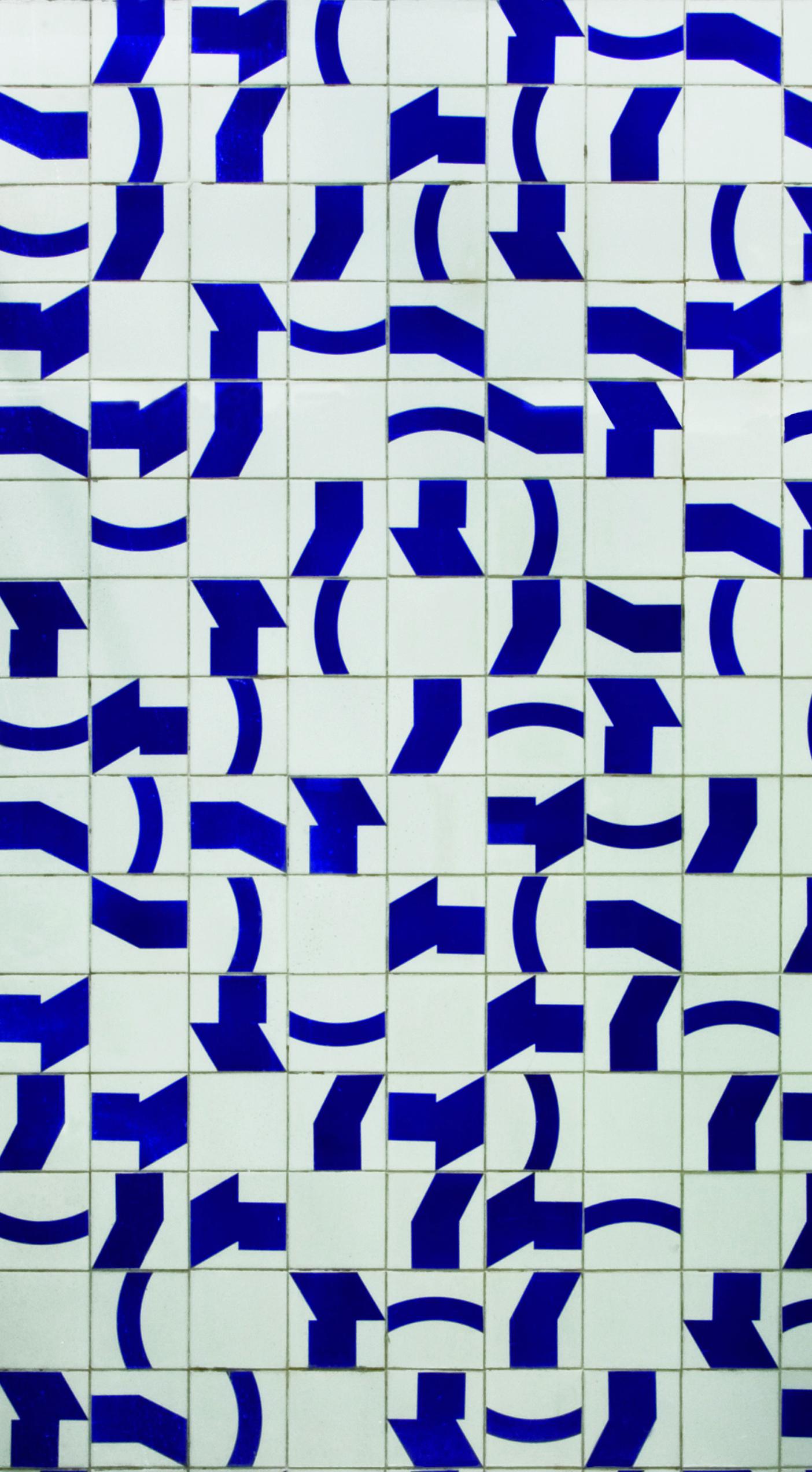Ventania Autor: Athos Bulcão Ano: 1960  Técnica: Pintura em azulejo