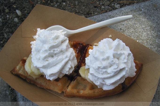 Vegan Banana Cream Moffle Waffle
