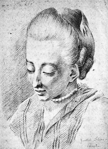 Johann Ludwig Ernst Morgenstern, Cornelia Schlosser, geb. Goethe, ca. 1770