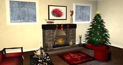 Wood Works Holiday Living Room set December Swank