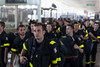 Following the ceremony, European firefighters headed to Santiago airport to make the journey back to Europe.  Photo: EU/ECHO/V. Rodas