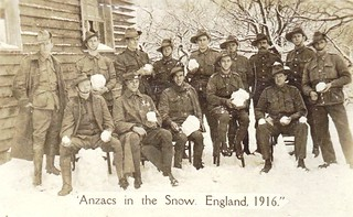 Anzacs in the Snow - England 1916