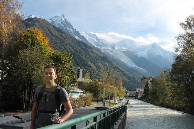 zaid beside river alps chamonix