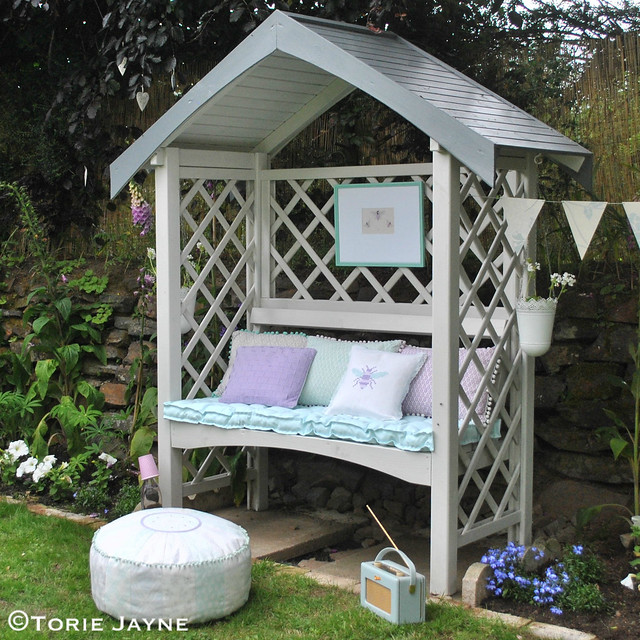 Pretty cottage style garden arbour
