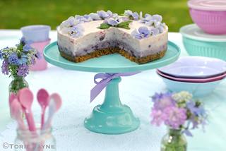 Turquoise melamine cake stand 3