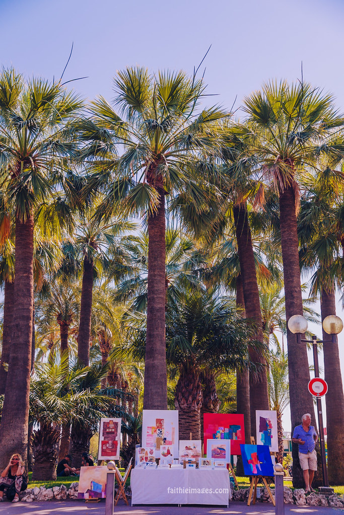 Art and palm trees
