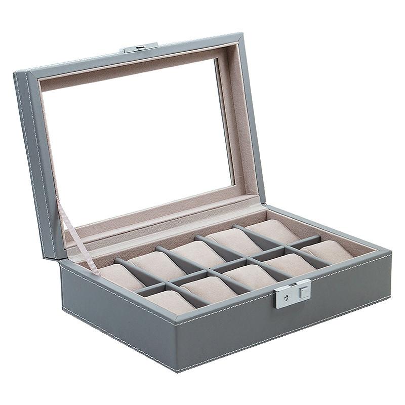 coffret boite a montre 10 montres facon cuir haute qualite. Black Bedroom Furniture Sets. Home Design Ideas