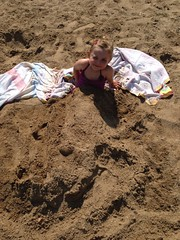 Lilah playing in the sand
