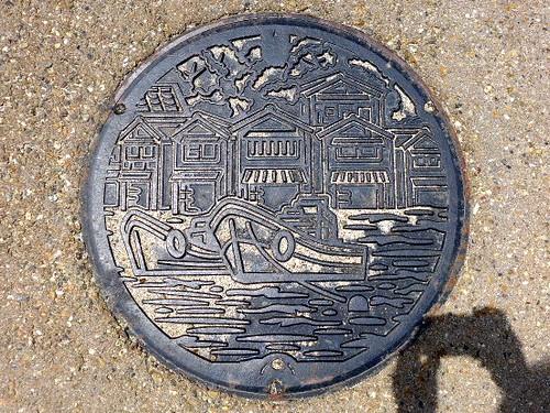 Ine Kyoto, manhole cover (京都府伊根町のマンホール)