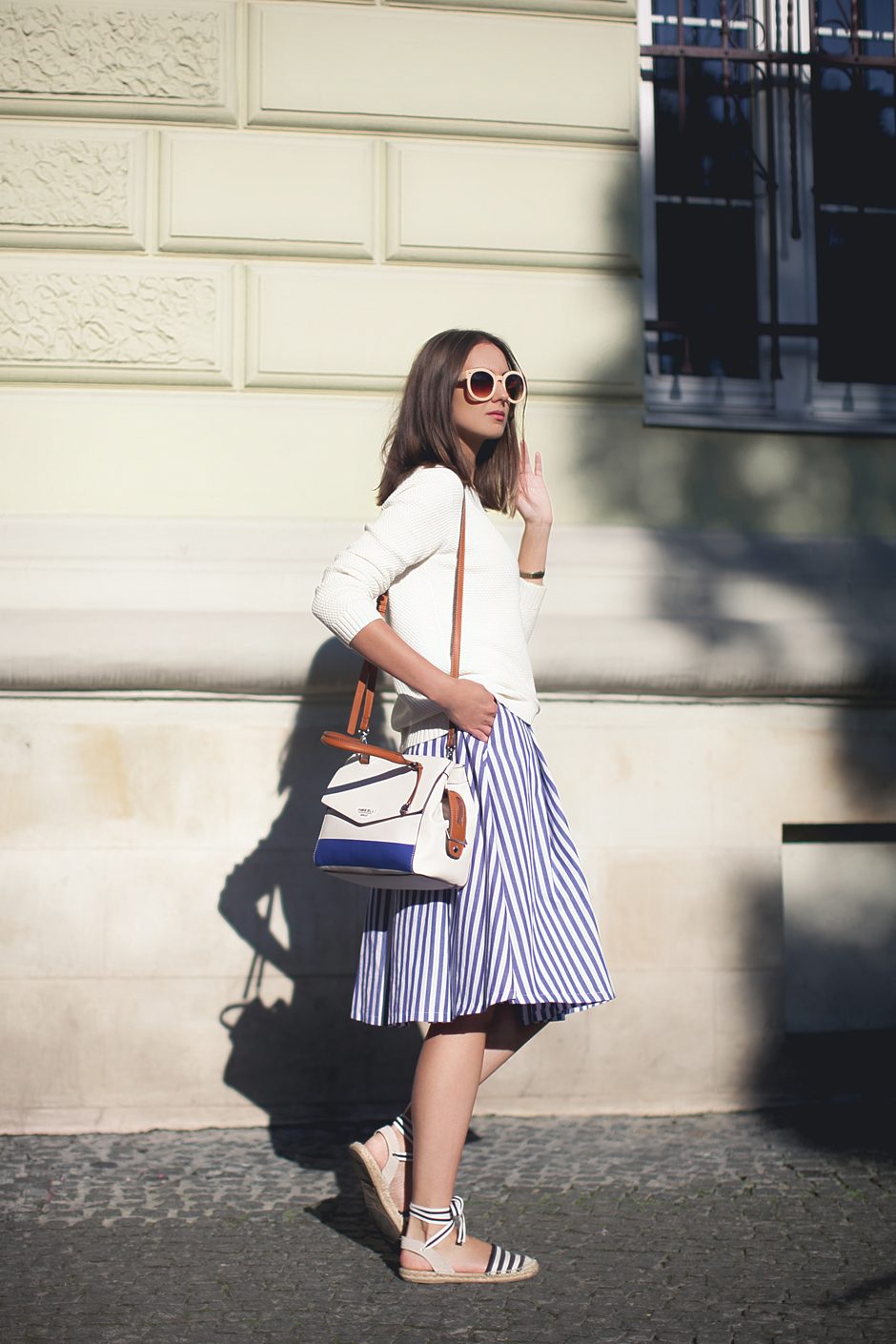 nautical-stripes-midi-skirt-espadrilles-outfit-street-style
