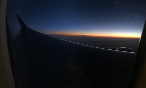 Sunrise, United 767-300, IAD-CDG