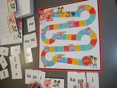 Playing He Kupu i Kore at Shirley Library