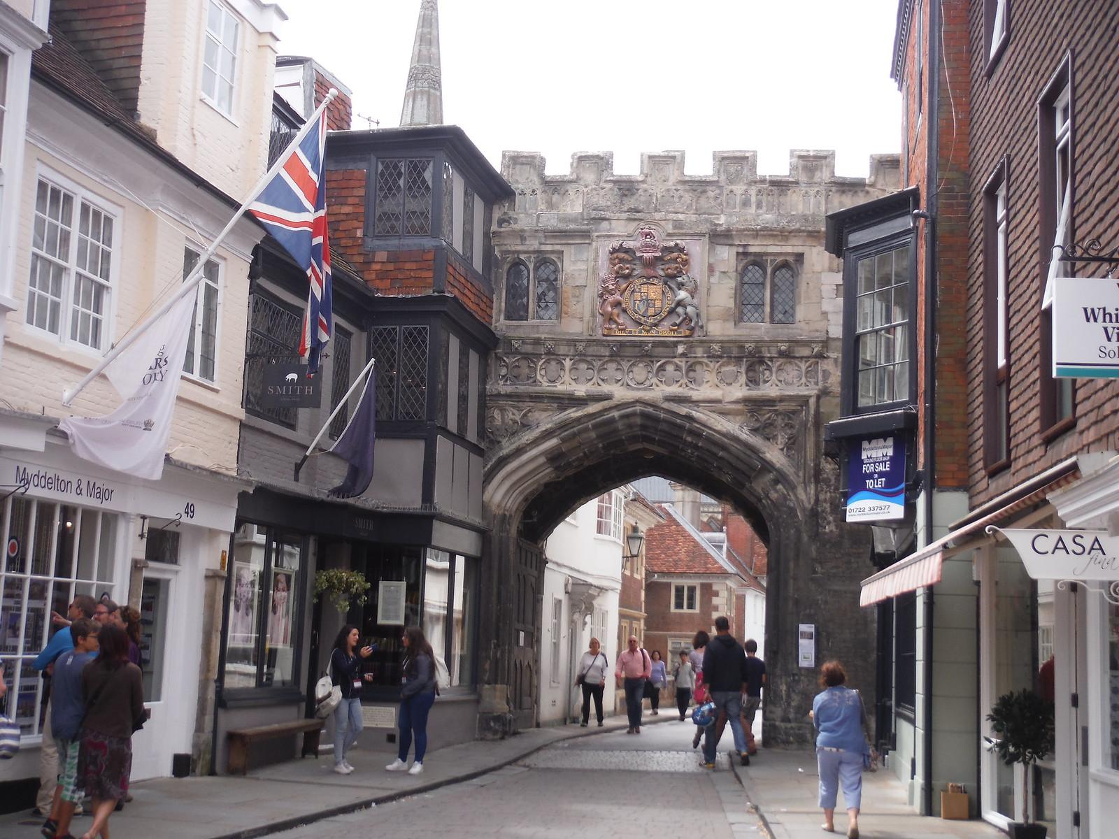 Gate to Cathedral Precinct SWC Walk 254 Salisbury Circular