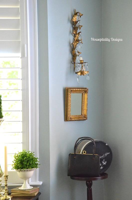 Master Bedroom - Gold Guilded Sconces - Housepitality Designs