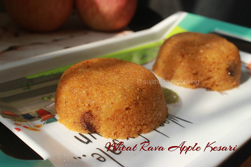 Wheat Rava Apple Kesari1