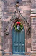 A side door, First Presbyterian Church (1844-46), lower Fifth Avenue, Greenwich Village, New York