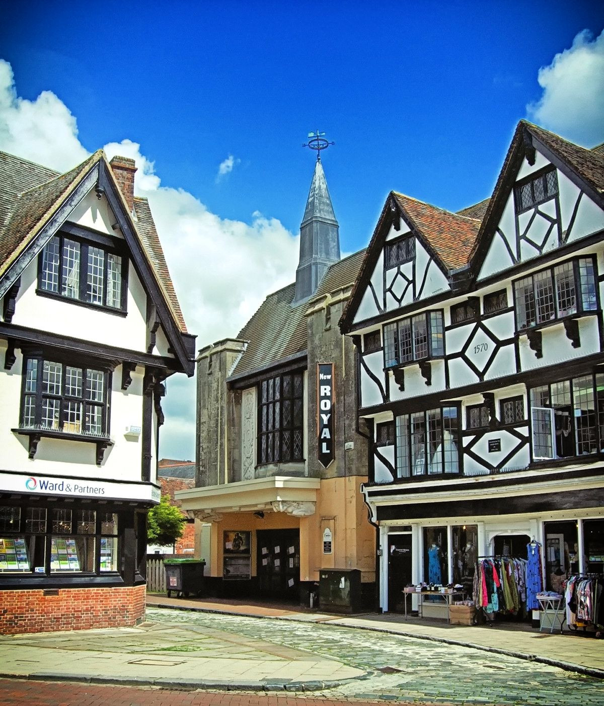 Elizabethan Tudor listed buildings in Faversham, Kent. Credit Jim Linwood