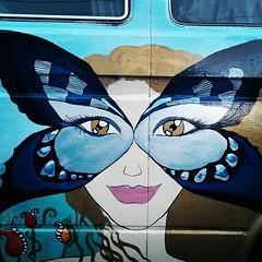 #Volkswagen #van #art #car in #Eugene #Oregon #Vanagon #VW #painting Please Follow. Thanks!