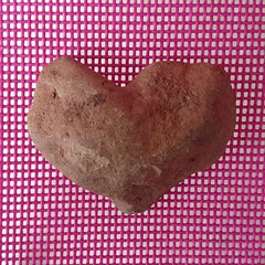 Teagan found a #heart shaped #rock at play-camp yesterday. #newtreasure #foundtreasure #love