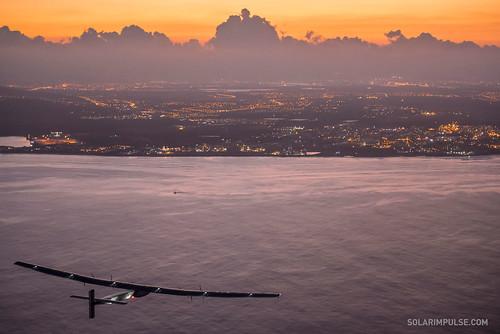 在夏威夷上空(來源:Solar Impulse官網)
