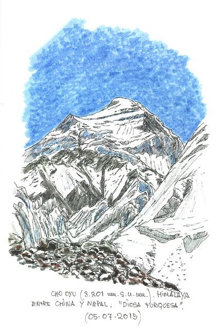 Cho Oyu (8.201 m.s.n.m.) Entre China y Nepal