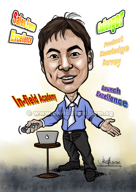 trainer digital caricature for Abbvie