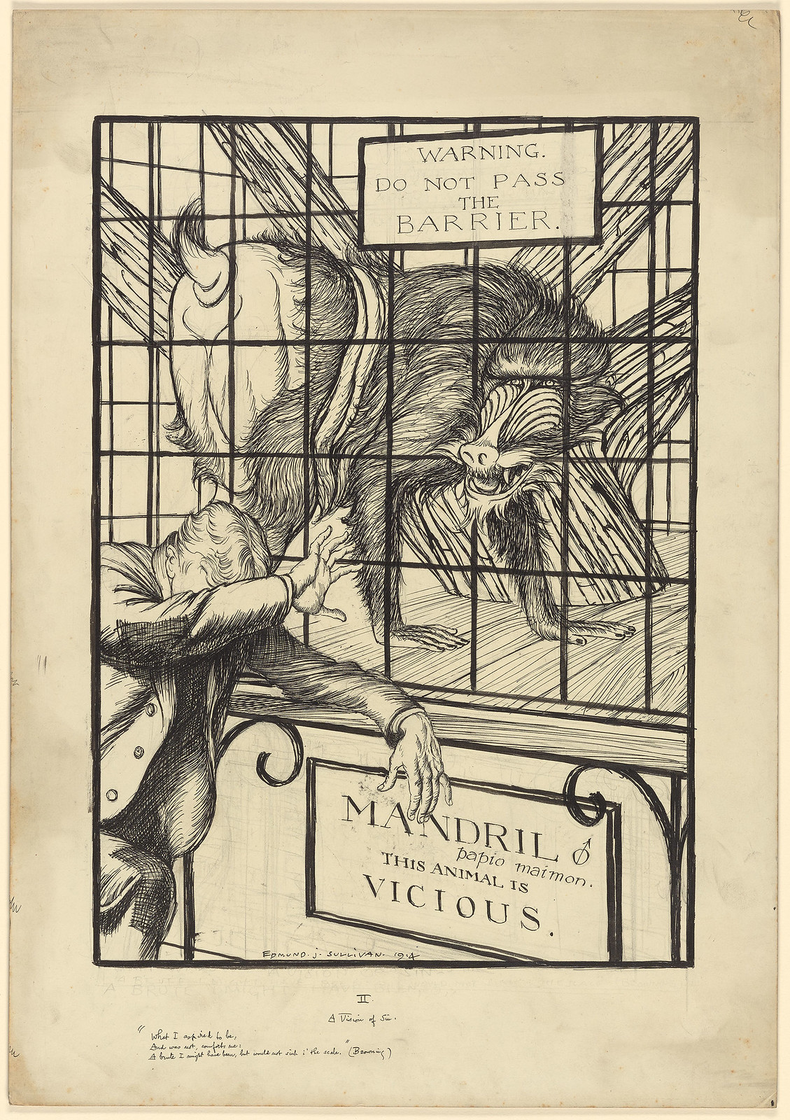 Edmund Joseph Sullivan - A Vision of Sin, 1914