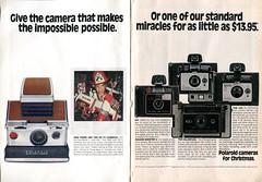 1974 Polaroid Cameras Advertisement Readers Digest December 1974
